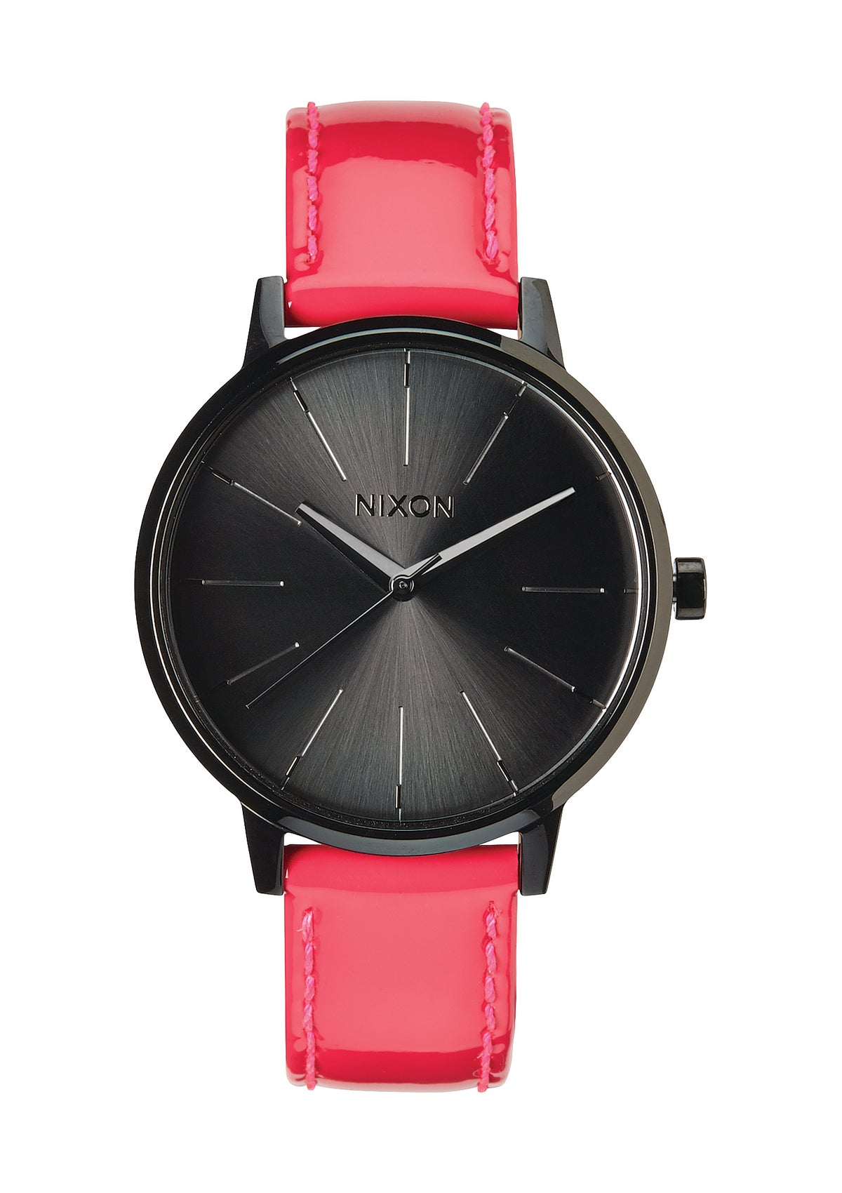 Nixon Watch Kensington Leather - Bright Pink Patent