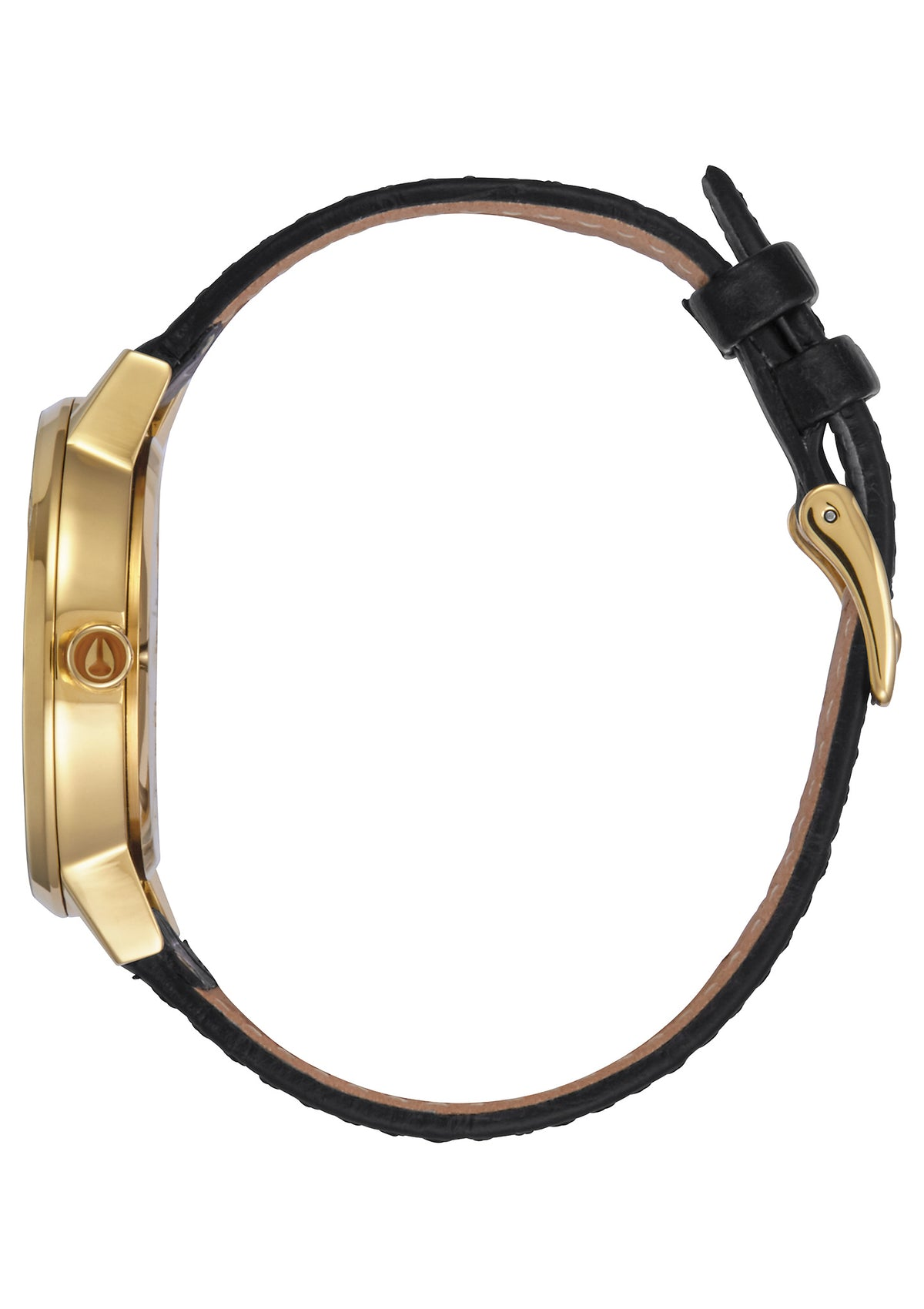 Nixon Watch Kensington Leather - Gold/Black Gator