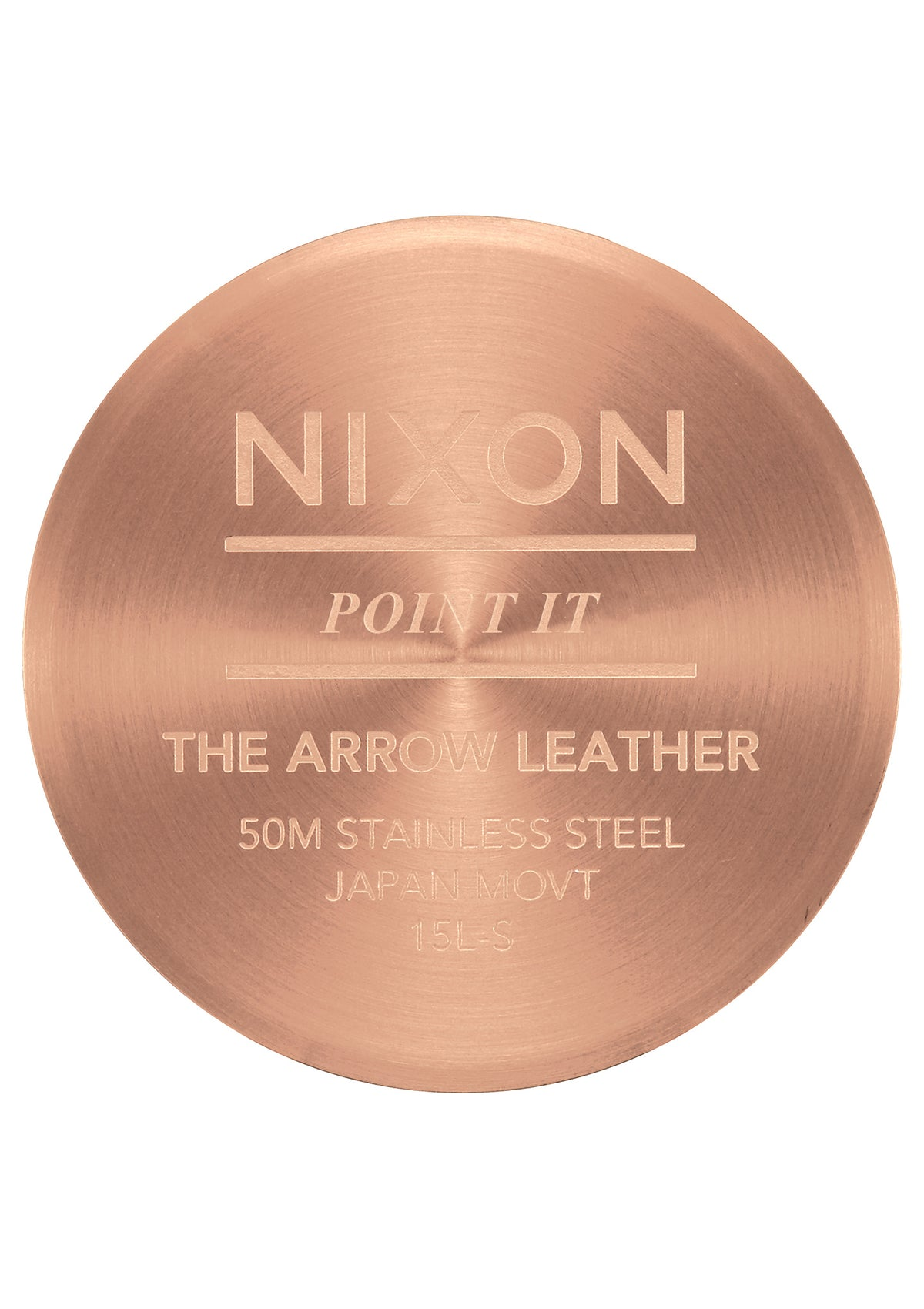 Nixon Watch - Arrow Leather: Rose Gold/Silver