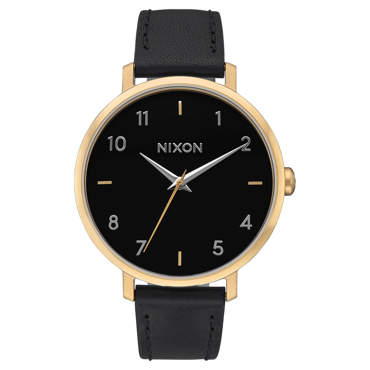 Nixon Watch - Arrow Leather: Gold/Black