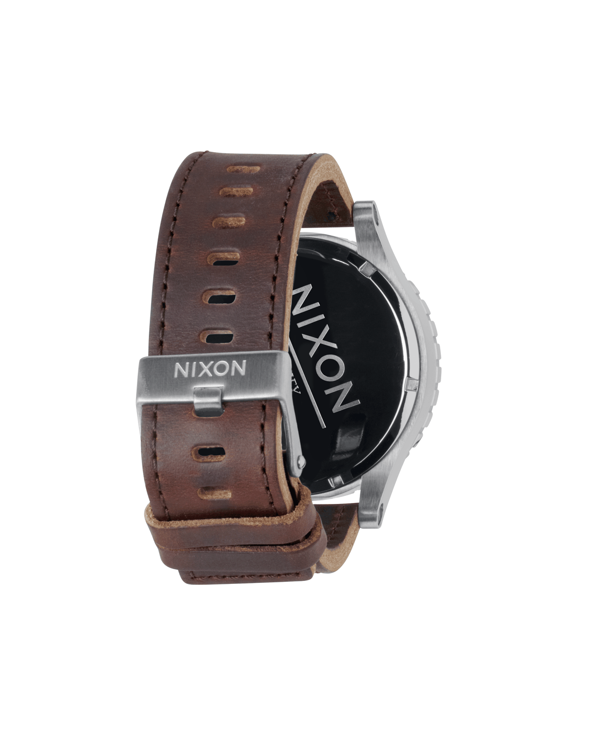 Nixon Watch 51-30 Chrono Leather - Silver/Brown
