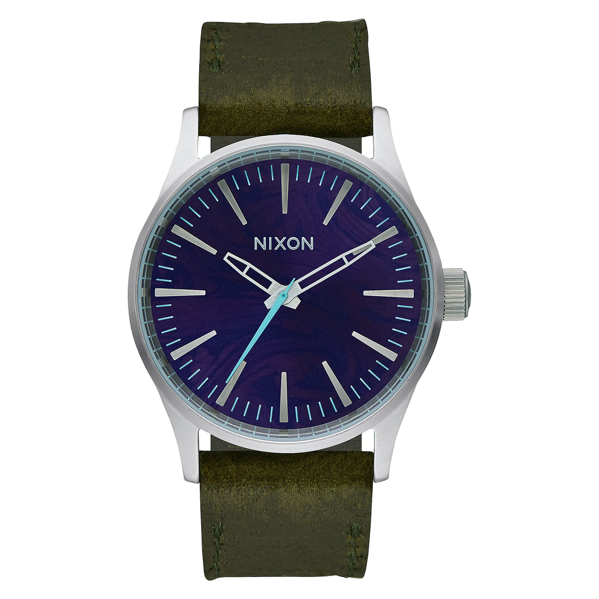 Nixon Sentry 38 Leather - Purple/Olive