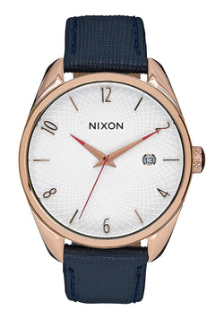 Nixon Watch - Bullet Leather 38 - Rose Gold/Navy