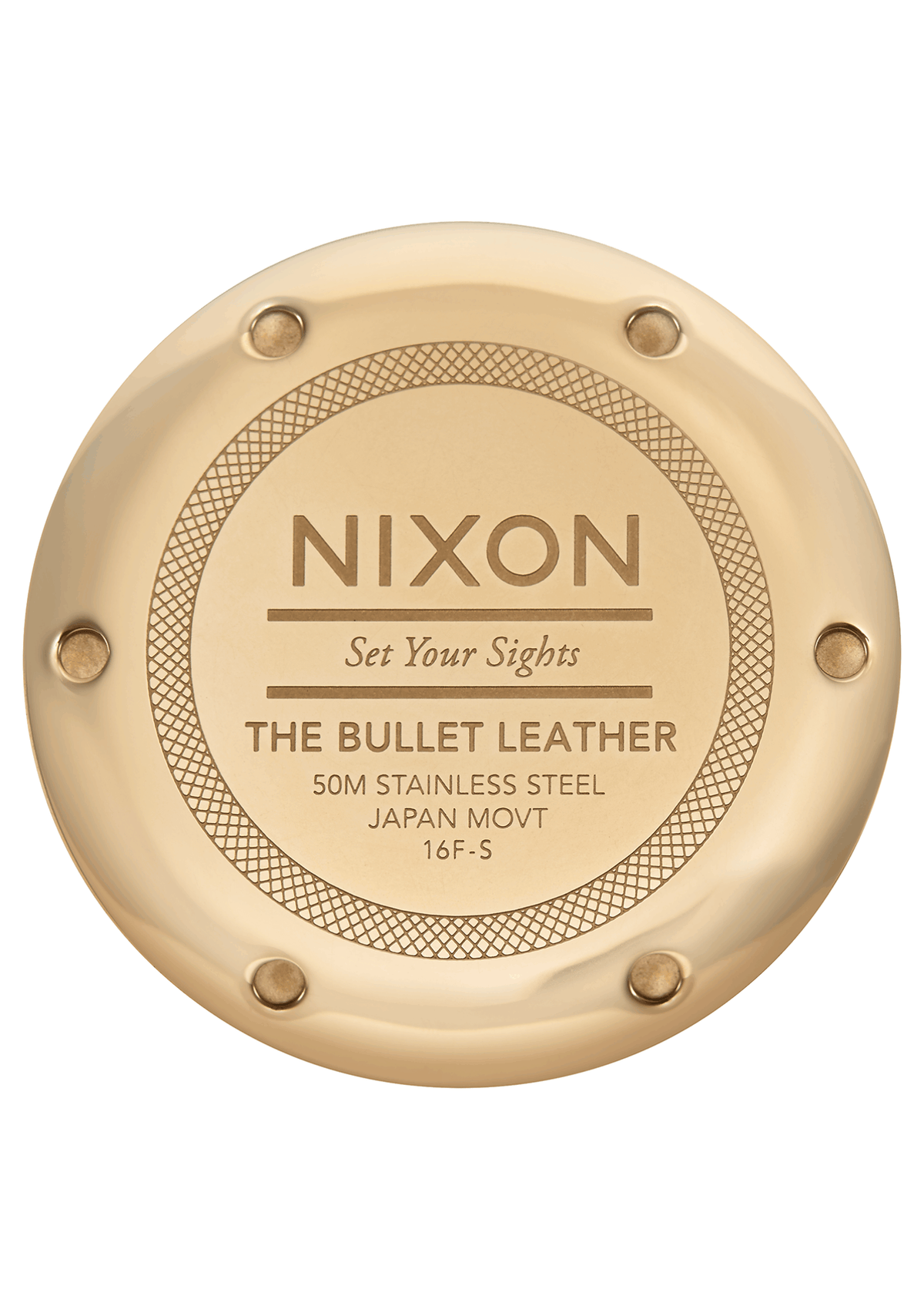 Nixon Watch - Bullet Leather 38 - Gold/Black