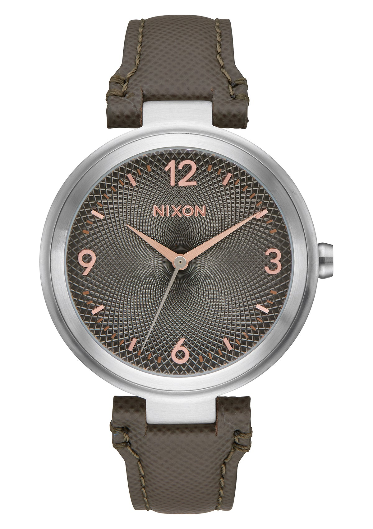 Nixon Chameleon Leather - Gunmetal/Rose Gold