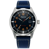 Alpina - STARTIMER PILOT QUARTZ - Steel with blue nylon band