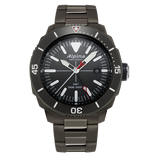 Alpina - SEASTRONG DIVER GMT - Stainless Steel Titanium PVD with Grey Dial/Bezel