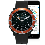 Alpina - SEASTRONG HOROLOGICAL SMARTWATCH - Black Dial, Orange Bezel