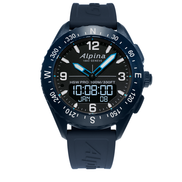 Alpina - AlpinerX Outdoors Smartwatch - Blue