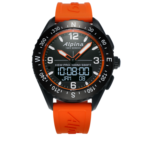 Alpina - AlpinerX Outdoors Smartwatch - Orange