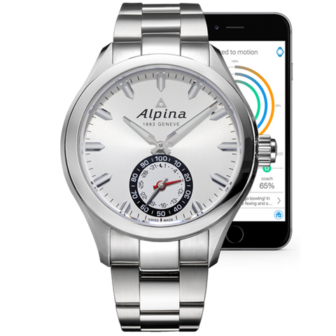 Alpina - HOROLOGICAL SMARTWATCH Steel with Silver Dial