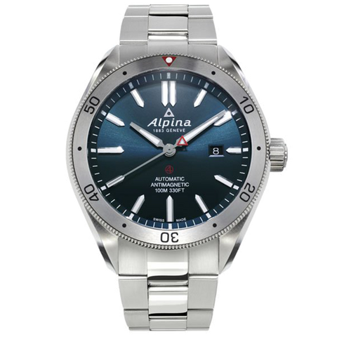 Alpina - ALPINER 4 AUTOMATIC - Stainless Steel, Blue Dial