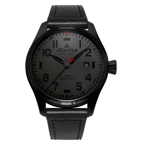 "Alpina - STARTIMER PILOT AUTOMATIC ""Shadow Collection"""