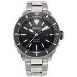 Alpina - SEASTRONG DIVER 300 AUTOMATIC - Black Dial, Stainless Steel Bracelet