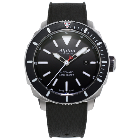 Alpina - SEASTRONG DIVER 300 AUTOMATIC - Black Dial/Bezel on Black Rubber