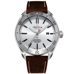 Alpina - ALPINER 4 AUTOMATIC - Silver Dial, Brown Leather