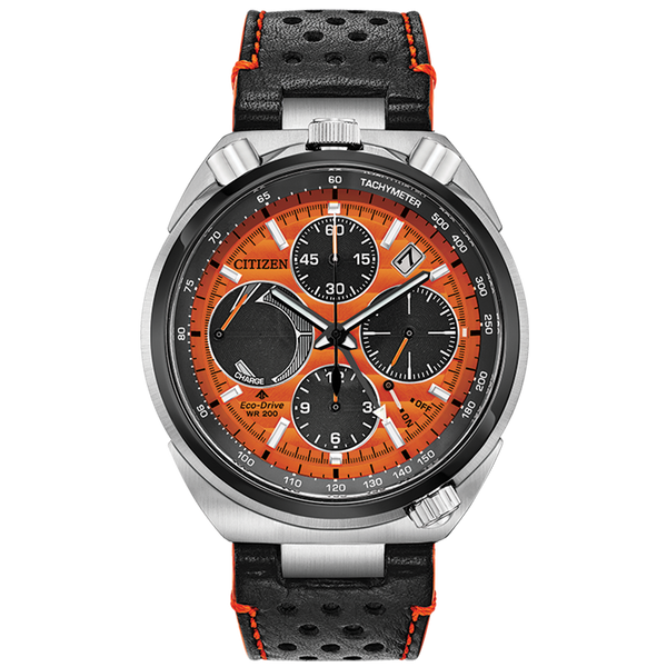 Citizen Eco-Drive - LIMITED EDITION PROMASTER TSUNO CHRONO RACER - Black/Orange