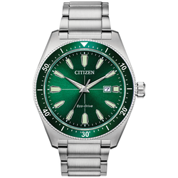 Citizen Eco-Drive - Brycen - Stainless Steel with Green Dial