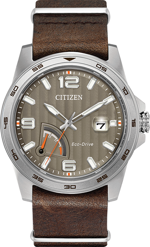 Citizen Eco-Drive - PRT - Stainless Steel with Brown Leather