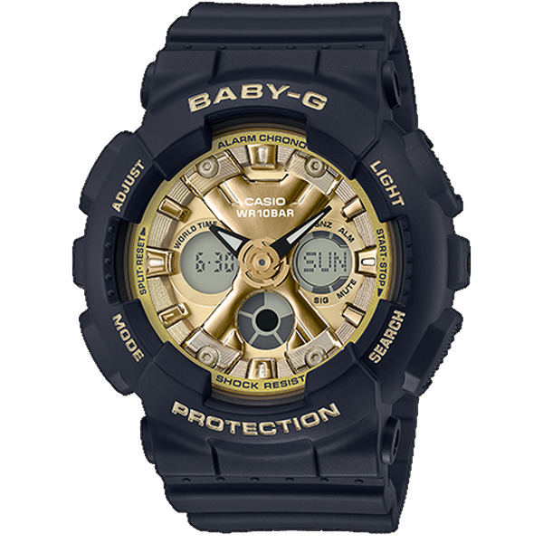 Casio Baby G - Ani/Digi Black with Metallic Gold Dial