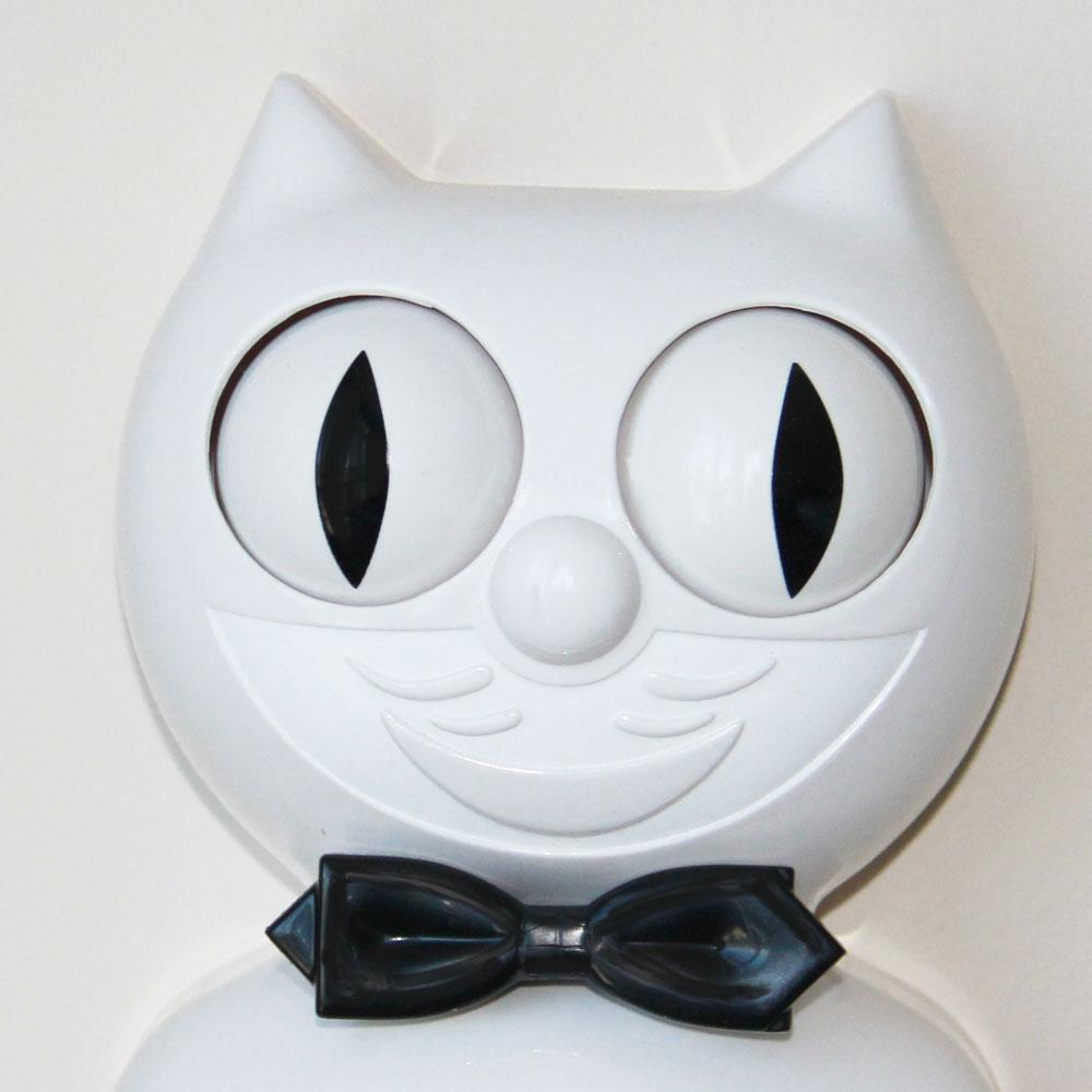 White Gentleman Delight Kit-Cat® Klock