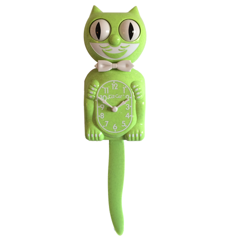 Fun Chartreuse Kit-Cat® Klock