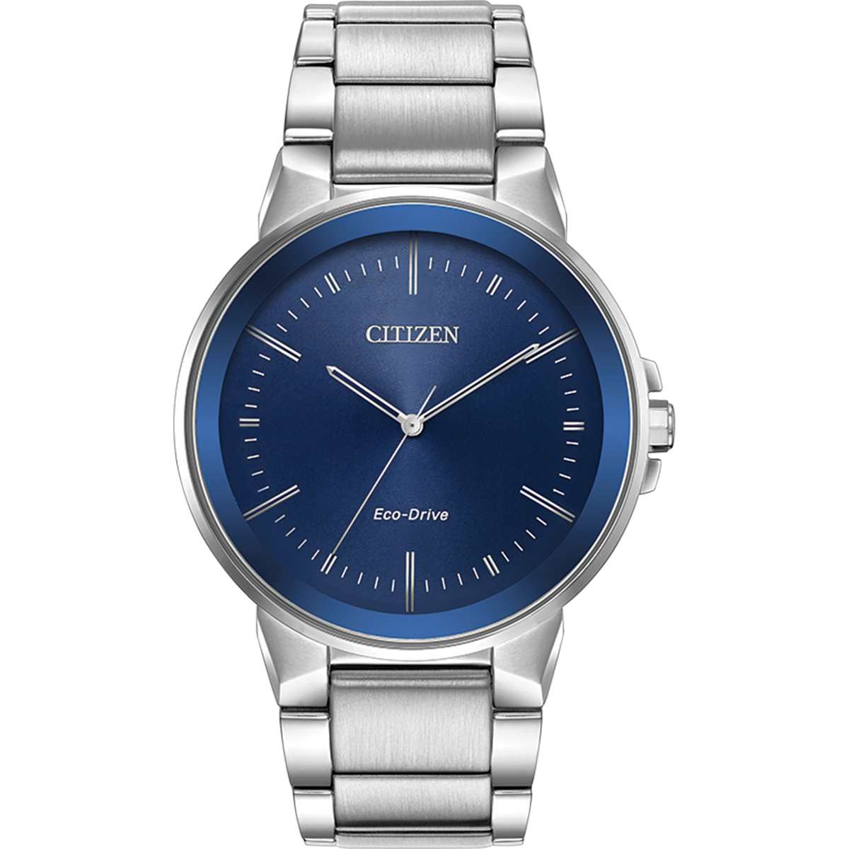 Citizen Eco-Drive - Axiom - Stainless Steel with Blue Dial