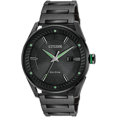 Citizen Eco-Drive - CTO - Black Steel with Green Accents