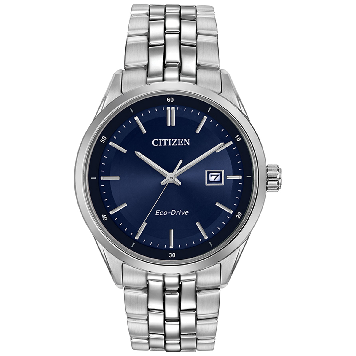Citizen Eco-Drive - Corso - Stainless Steel with Blue Dial