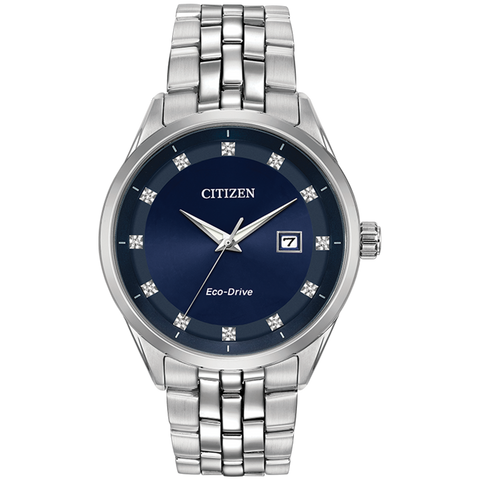 Citizen Eco-Drive - Corso - Stainless Steel with Diamonds