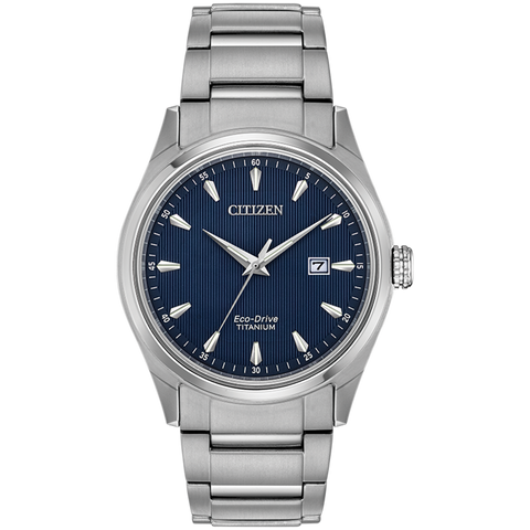 Citizen Eco-Drive - Chandler Titanium with Blue Dial