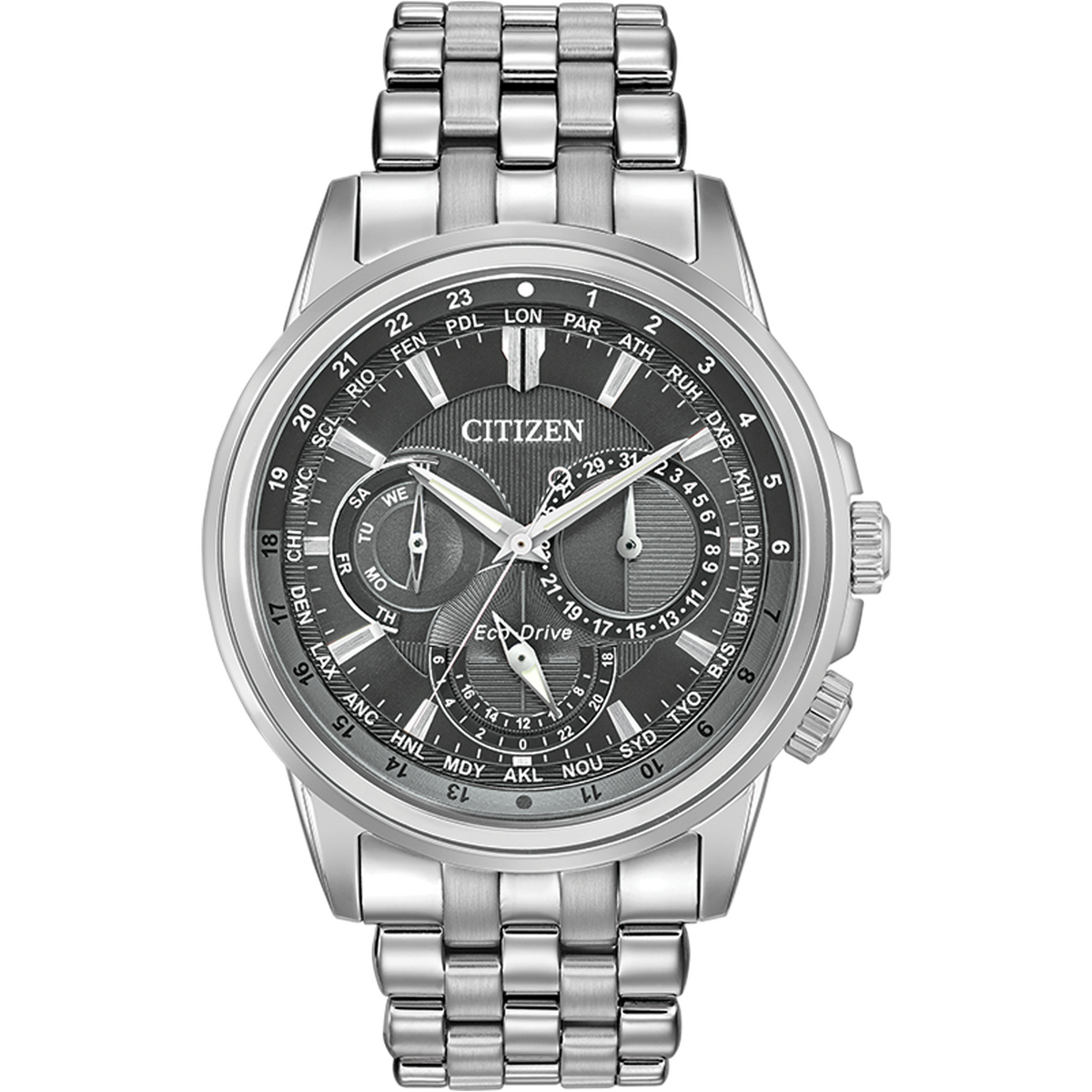 Citizen Eco-Drive - CALENDRIER Stainless Steel with Grey Dial