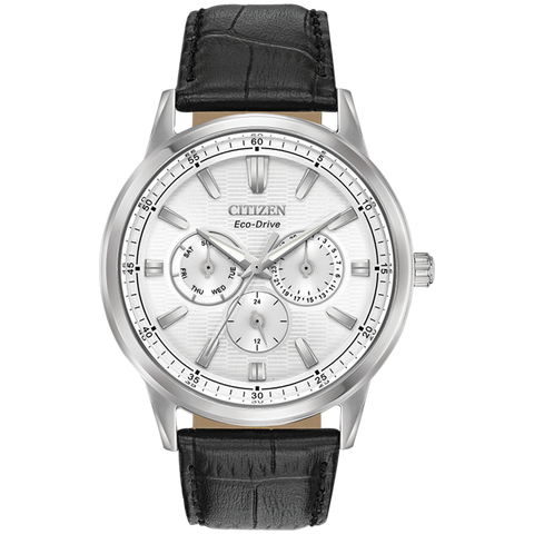 Citizen Eco-Drive - Corso - Stainless Steel Multifunction with Black Leather