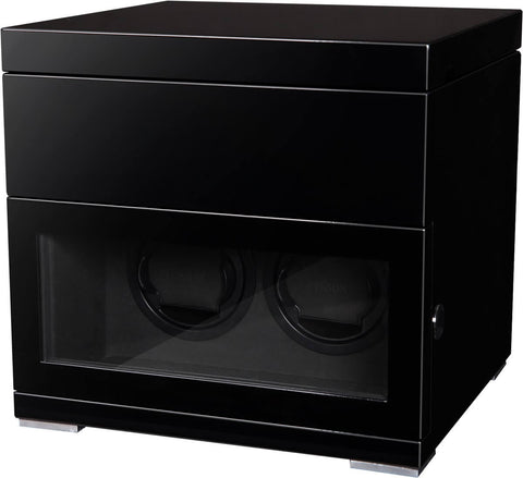 Benson Black Series - 2 Watch Winder and Box in Black