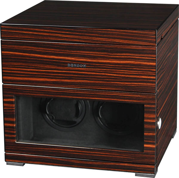 Benson Black Series - 2 Watch Winder and Box in Macassar