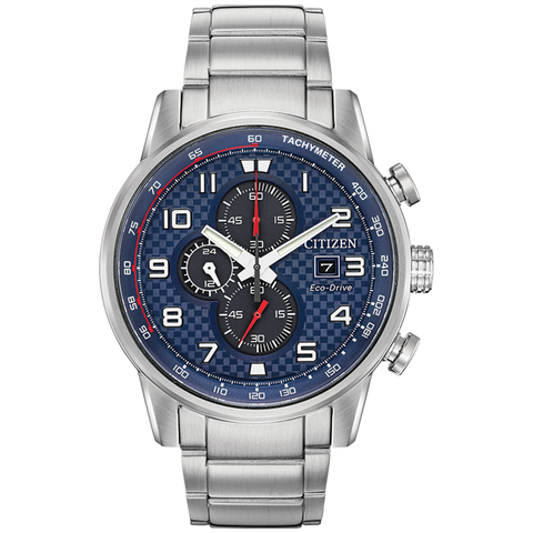 Citizen Eco-Drive - Primo - Stainless Steel Chrono with Blue Dial