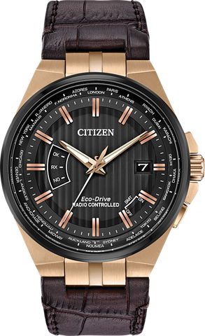 Citizen Eco-Drive - World Perpetual A-T - Rose Gold Tone