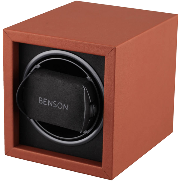 Benson Compact Series - Single Watch Winder in Light Brown