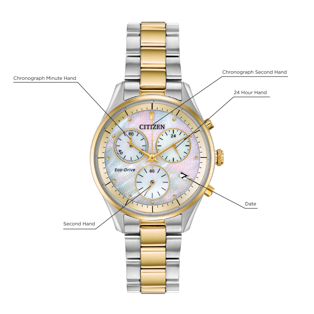 Citizen Eco-Drive - 32mm Chandler - Two Tone Chronograph
