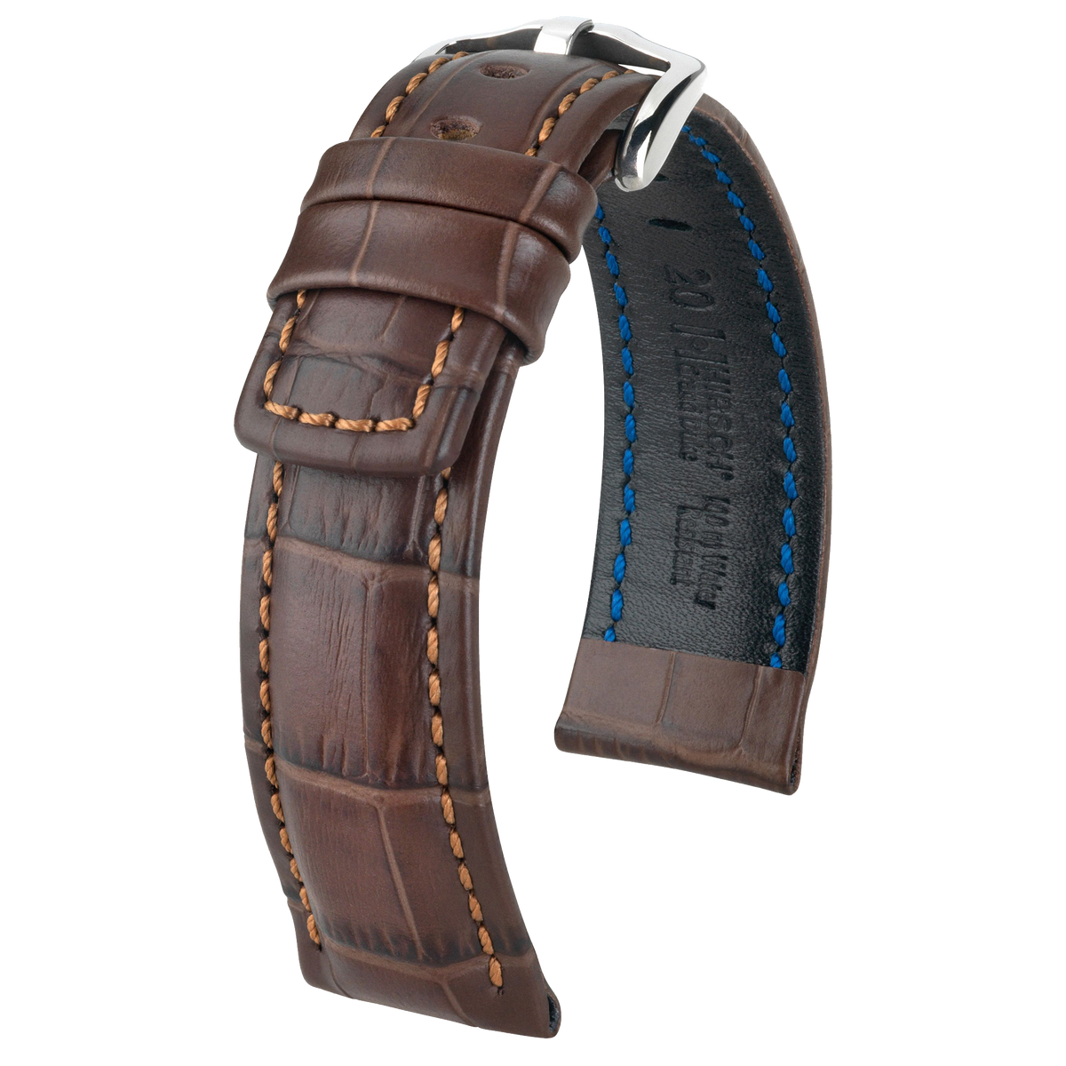 Hirsch GRAND DUKE Alligator Embossed Sport Watch Strap