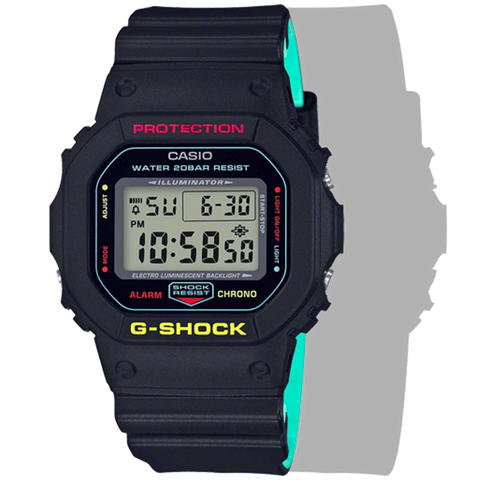 Casio G-Shock -  Digital - Black Rasta Edition