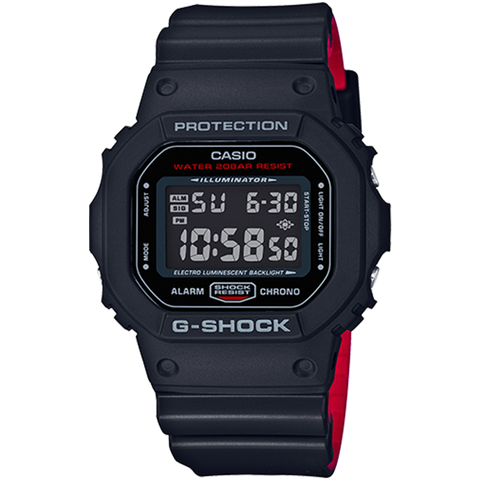 Casio G-Shock -  Digital - Black & Red