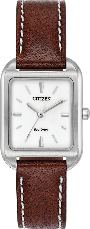 Citizen Eco-Drive - Chandler - Stainless Steel With Brown Leather