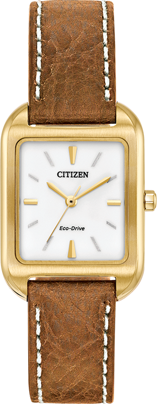 Citizen Eco-Drive - Chandler - Gold Tone with Brown Leather
