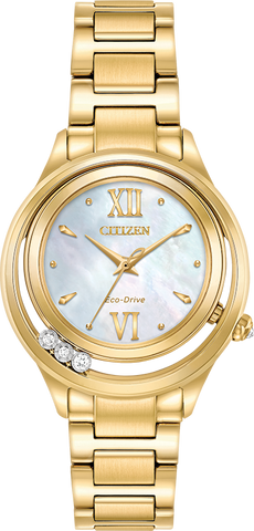 Citizen Eco-Drive - L Sunrise LS Gold Tone