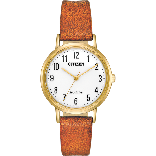 Citizen Eco-Drive - Chandler - Gold Tone on Brown Leather
