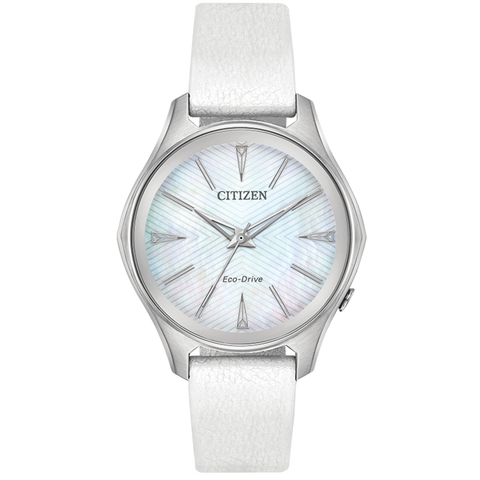 Citizen Eco-Drive - Modena with White Leather