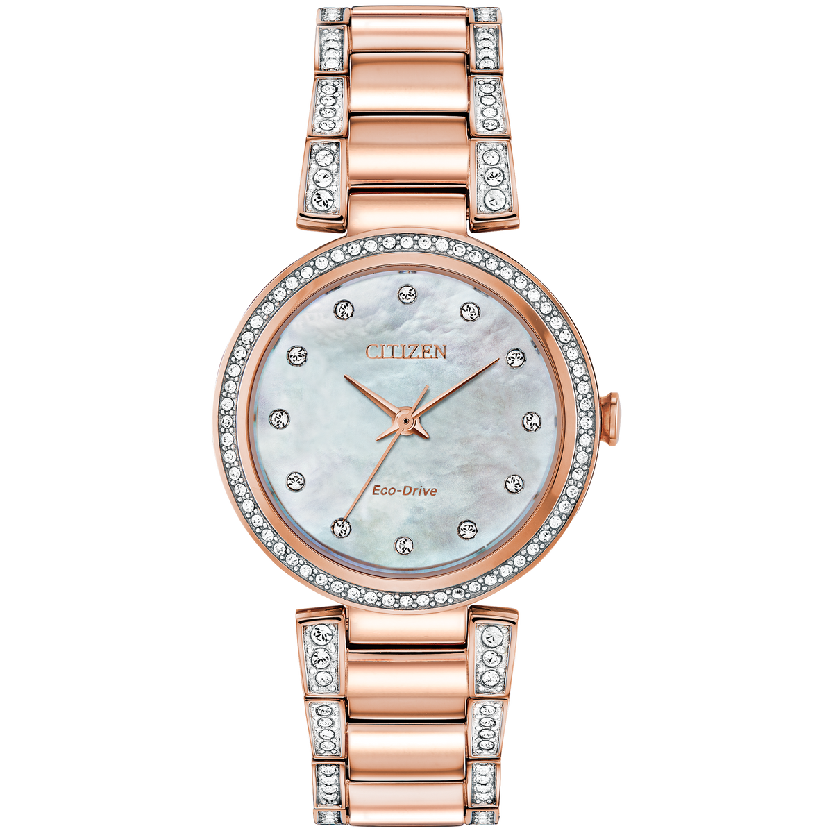 Citizen Eco-Drive - SILHOUETTE CRYSTAL - Rose Gold Tone