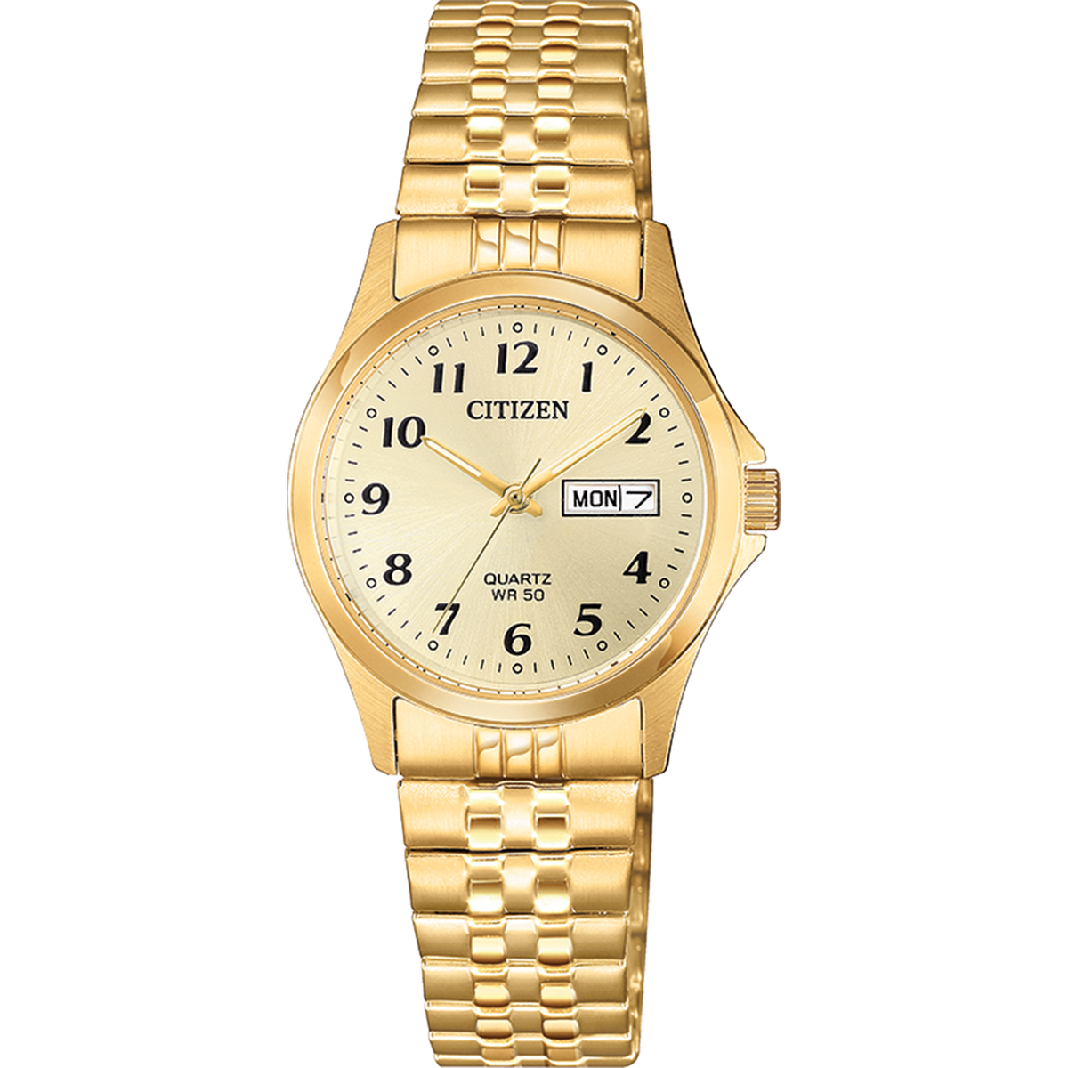 Citizen Quartz - 26mm Gold Tone Expansion