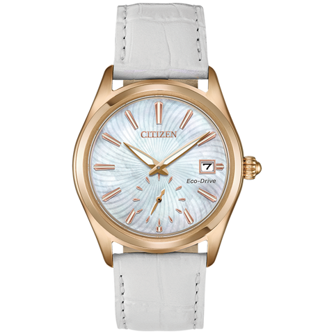 Citizen Eco-Drive - Corso - Rose Gold with White Leather